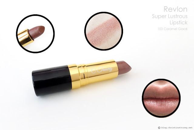 Revlon Super Lustrous Lipstick 103 Caramel Glace Review and Swatch