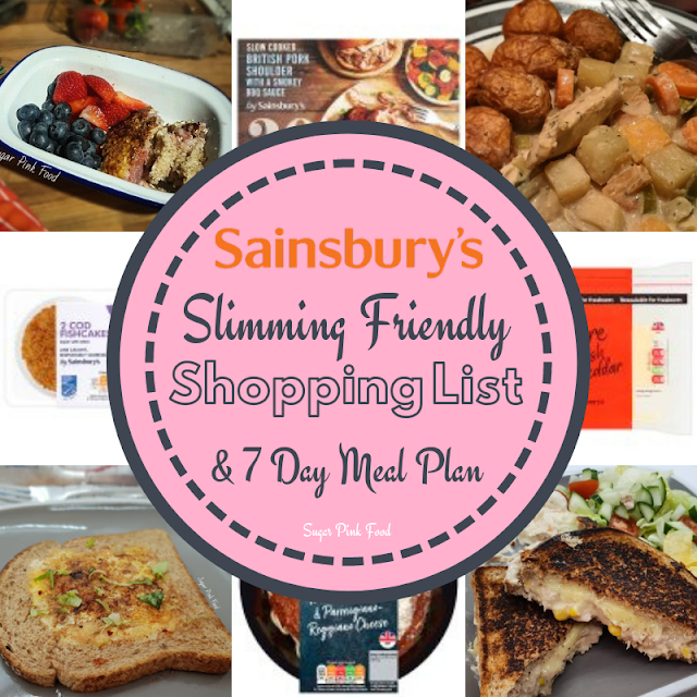 Slimming World meal plan 7 day with shopping list sainsburys