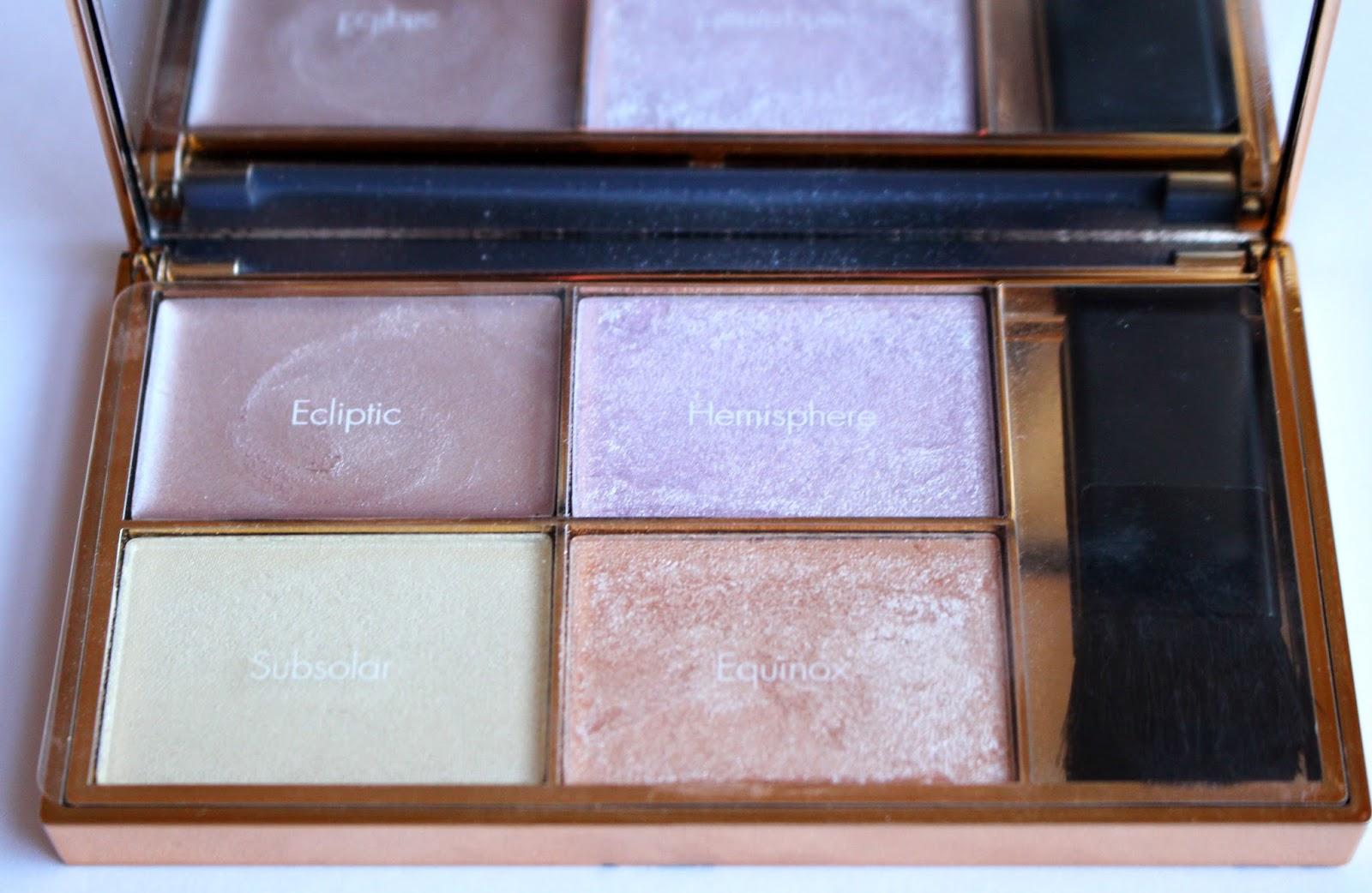 sleek makeup palette, affordable makeup, highlighting, solstice