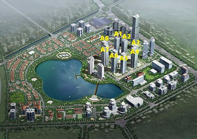 Phối cảnh tổng thể chung cư An Bình City Cổ Nhuế