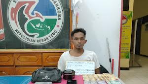Satresnarkoba Polres Tebo Bekuk Bandar Narkoba di Desa Aburan Sebrang