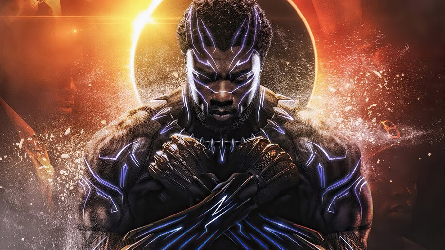 Black Panther Chadwick Boseman Wakanda Forever Salute 4k Wallpaper 7 2713