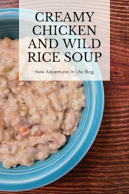healthy chicken and wild rice soup