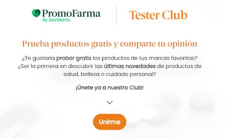 Prueba gratis Promofarma Tester Club