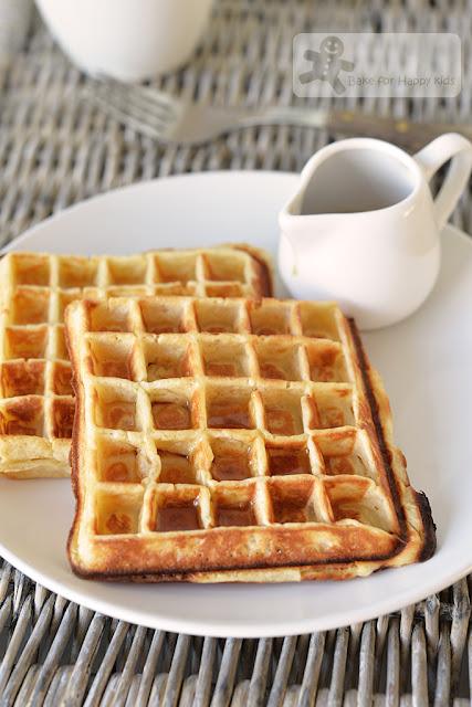 American-style buttermilk waffles