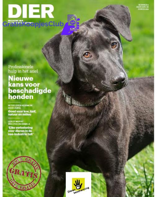 Gratis Magazine Van De Dierenbescherming