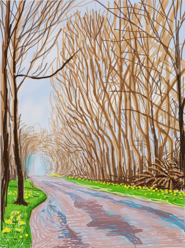 The Arrival of Spring iPad Drawings by David Hockney