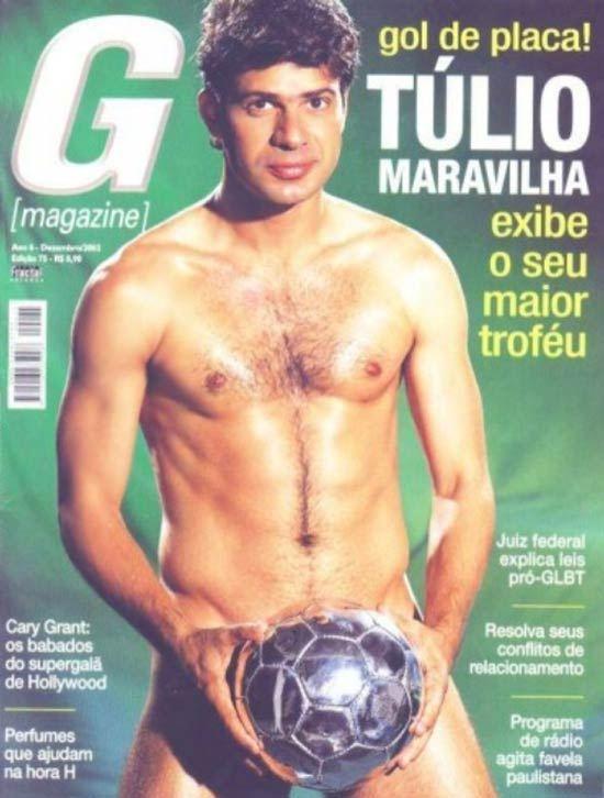 Fotos do jogador Túlio Maravilha pelado na G Magazine.
