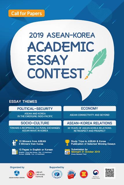 Kontes Essay Akademik Asean-Korea 2019 Hadiah Trip Asean dan Korea