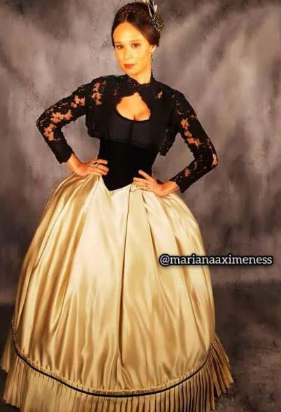 condessa de barral vestido dourado e preto