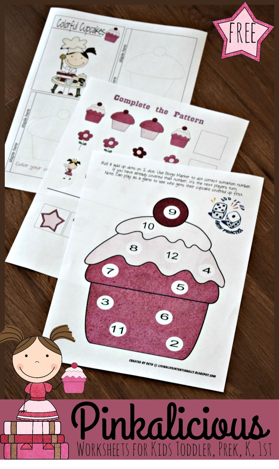 Free Pinkalicious Worksheets For Kids