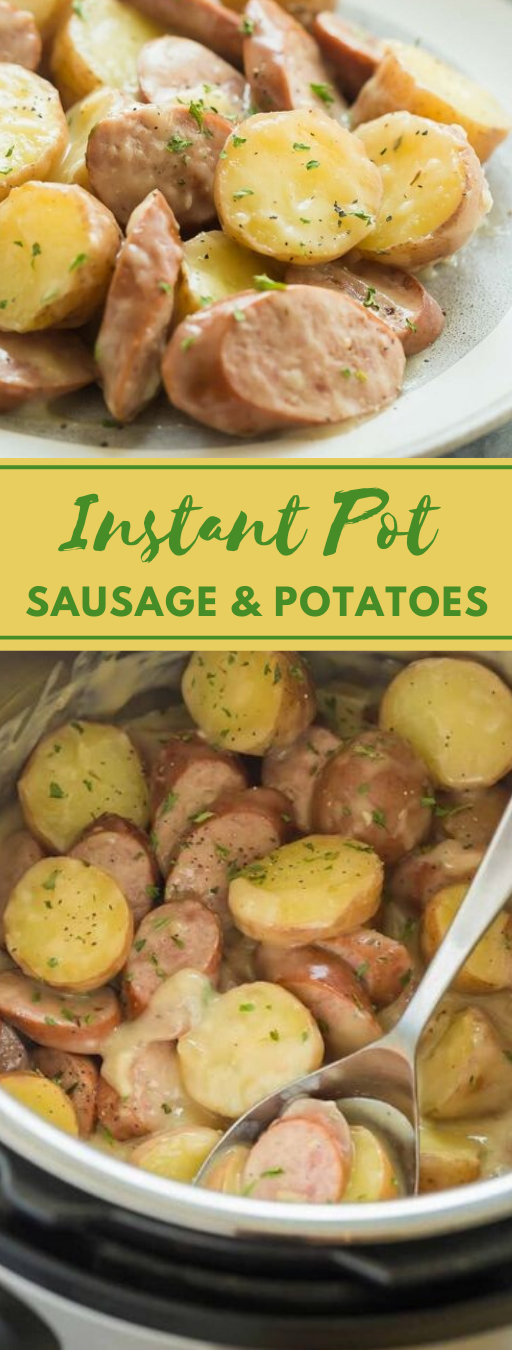 CREAMY SAUSAGE AND POTATOES #vegetarian #potatoes #sausage #vegan #easy