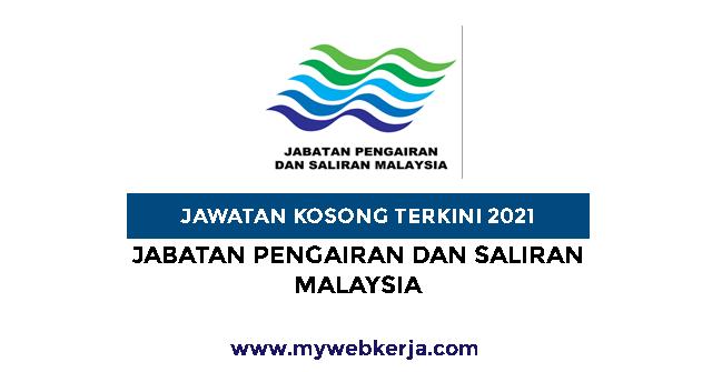 Jawatan Kosong Jabatan Pengairan Dan Saliran Malaysia