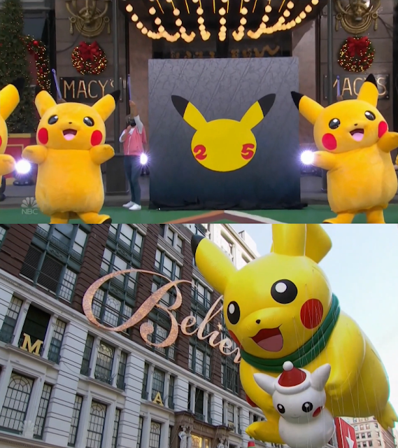 Pikachu 25th Pokémon Anniversary Macy's Thanksgiving Day Parade snow balloon