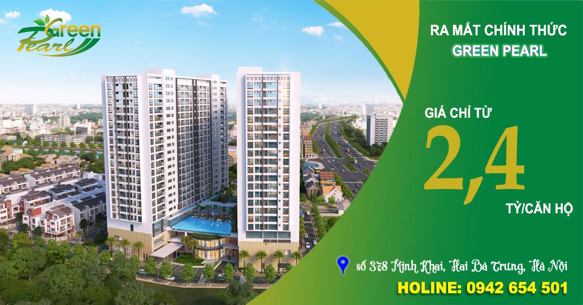 Banner chung cư Green Pearl 378 Minh Khai