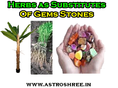 what herbs are used in place of gems stone in astrology