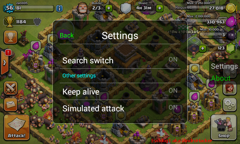 Nhận ROOT máy Android cài Xmod game Clash of Clans - Clash Castle