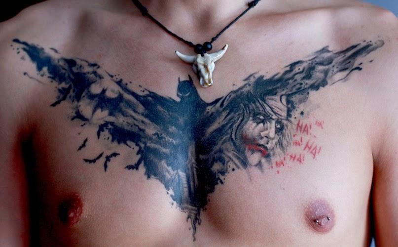 Tattoo Gallery For Men: Cool Chest Batman Tattoos For Men