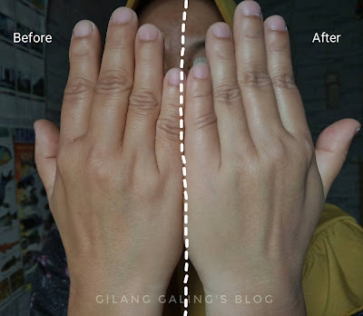 before after penggunaan scarlett fragrance body lotion freshy