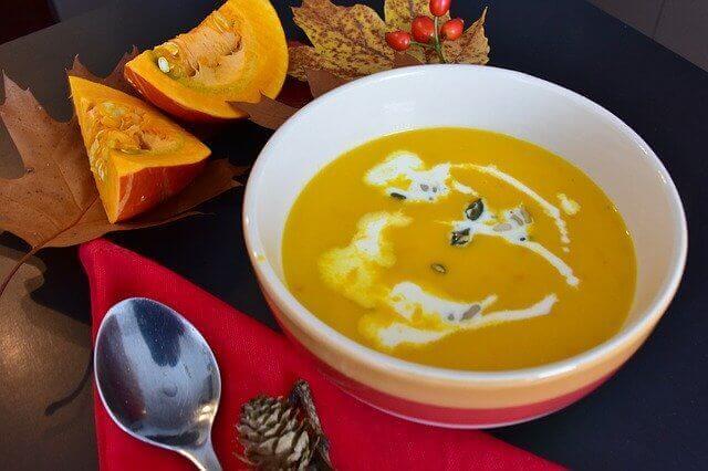 حساء اليقطين الشهي