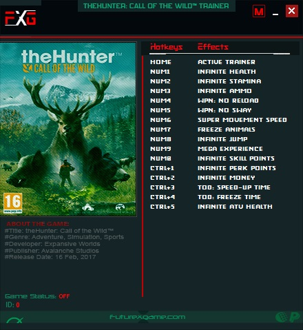theHunter: Call of the Wild: Trainer (+15) [1.0-v1898534]