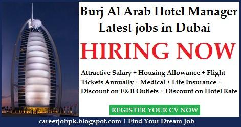 Burj Al Arab Hotel Manager jobs in Dubai