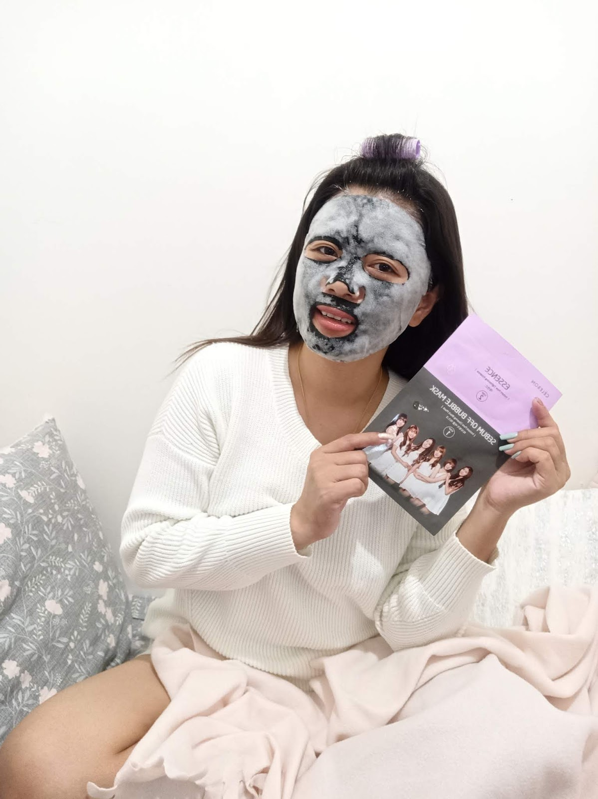 CELEBON 2 STEP SEBUM OFF BUBBLE MASK + ESSENCE REVIEW