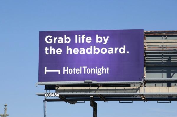 headboard HotelTonight billboard