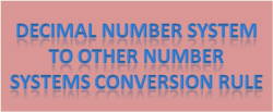 Decimal number system  to other number systems conversion rule