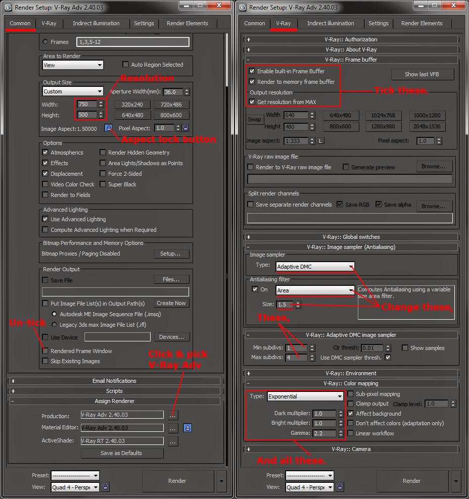 Vray settings download