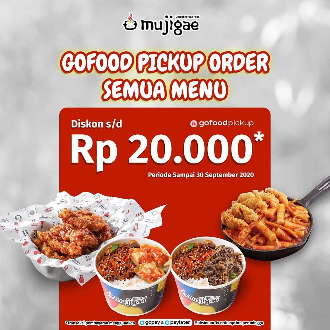 Mujigae Promo Gofood Pickup Order Semua Menu Diskon Hingga 20%