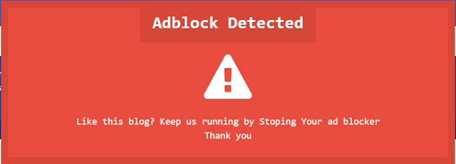 Disable Ad block Warning Message On Blogger