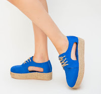 pantofi casual de dama albastri de vara