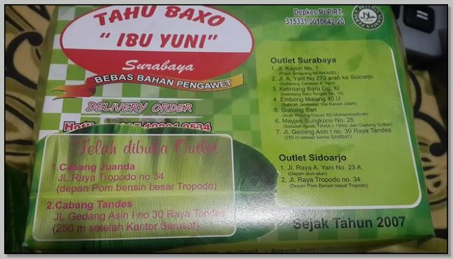 Kuliner Hits Surabaya – Lezat Gurihnya Tahu Baxo Ibu Yuni
