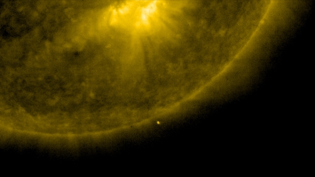 our sun with UFO