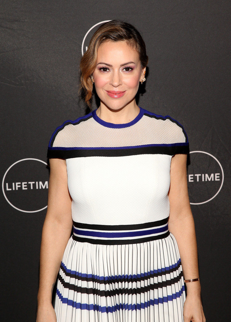 Alyssa Milano - Lifetime's Female Directors And Leading Actresses at 2019 TCA Winter Tour in Pasadena 02/10/2019