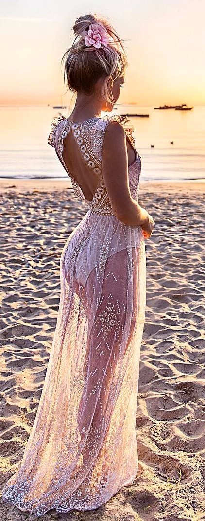 beach vibes / lacey maxi dress