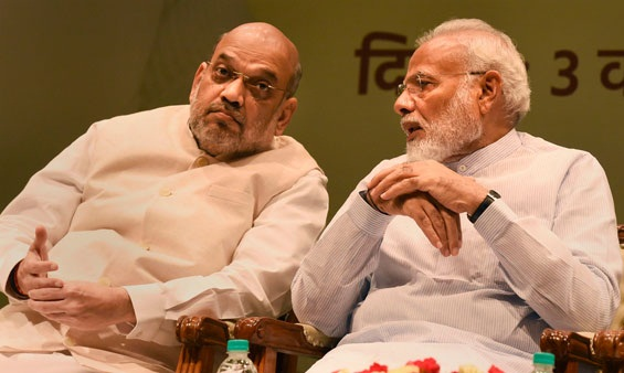 Pm Modi meeting with amit shah, ajit dival on Nagrota encounter