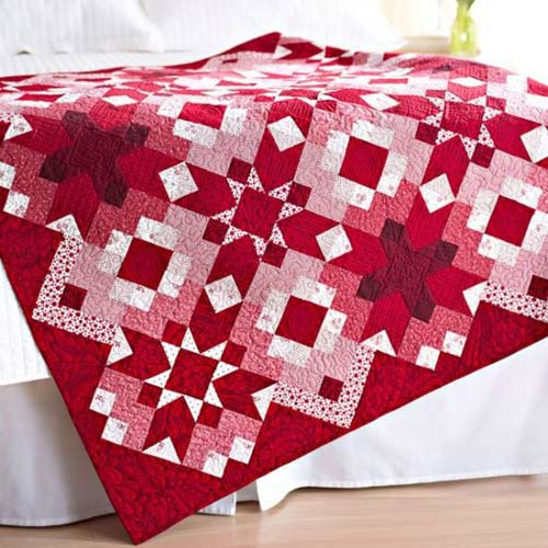 Ruby Red is Stunning in This Quilt - Tutorial