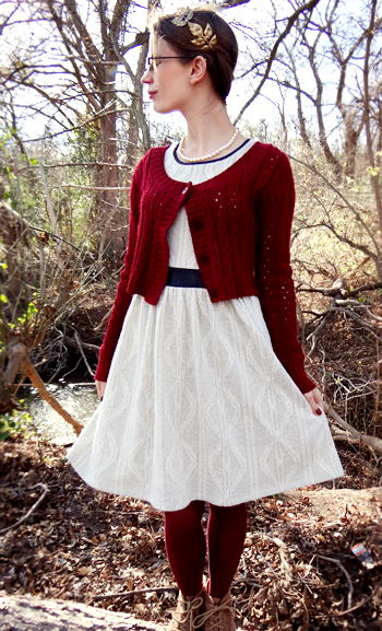 Burgundy And Cream Winter Outfit Curiosity And Charm