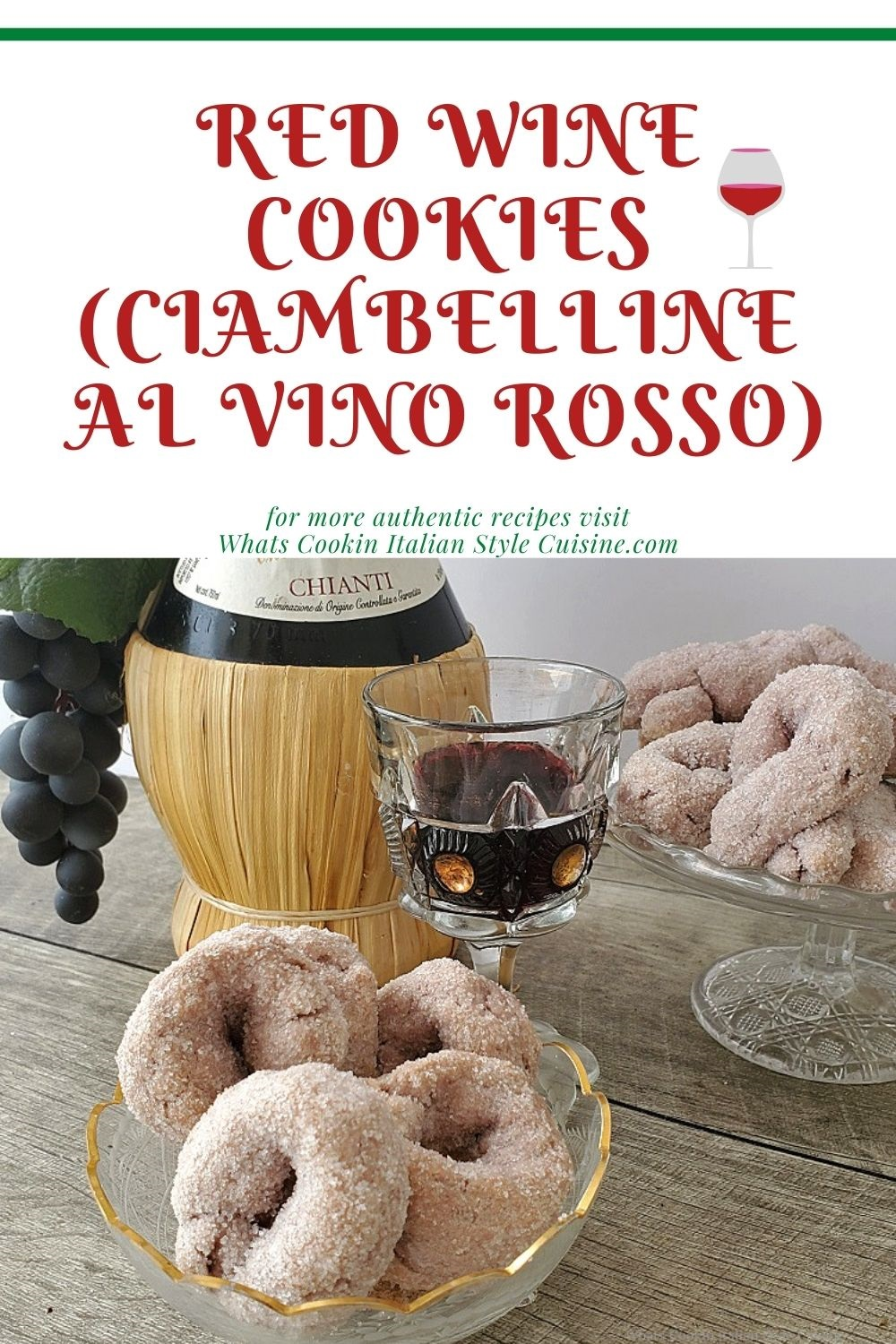 this is a pin for later on how to make Red Wine Italian Cookies