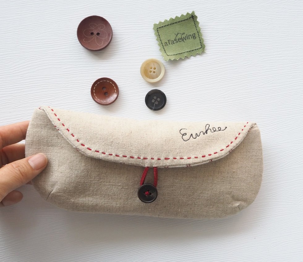 DIY Glasses Case Sewing Tutorial + Pattern. How to Sew.