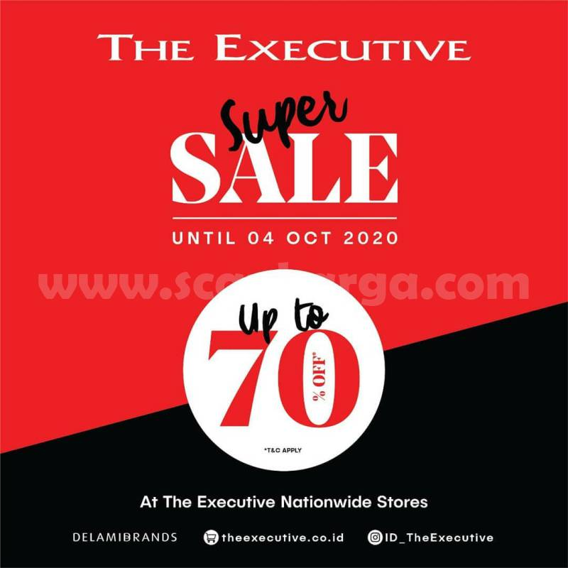 Promo The Executive Super SALE Up To 70% Off