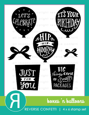 boxes 'n balloons stamp set