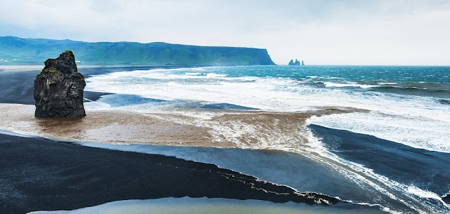 Fancifully beautiful black sand beach no one is allowed to bathe in Iceland