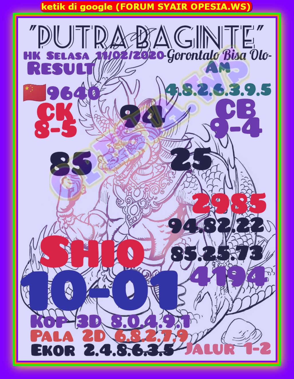 Kode syair Hongkong Selasa 11 Februari 2020 12