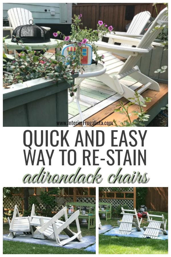 Quick Way To Re-Stain Adirondack Chairs