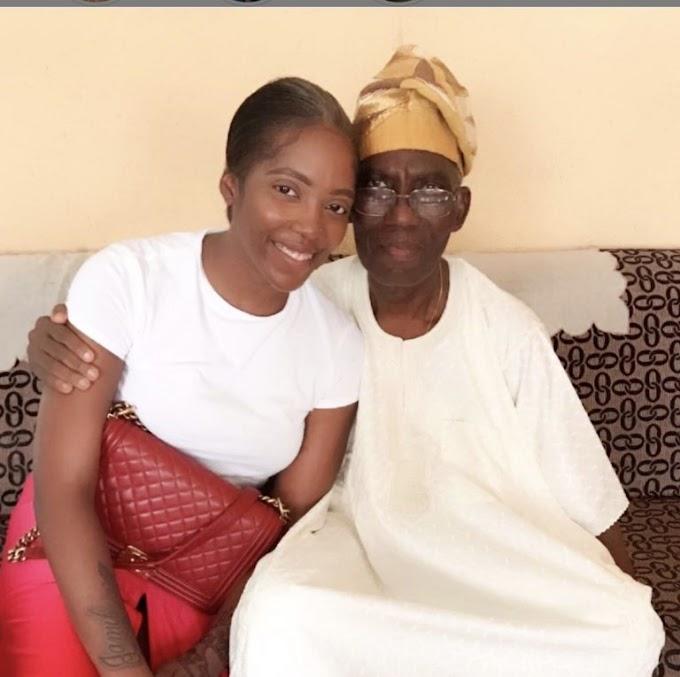 Tiwa Savage announces death of dad