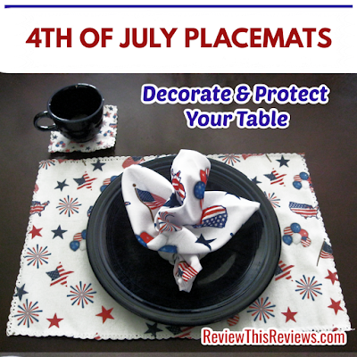 Decorating with 4th of July Placemats is fast & easy. Selecting Independence Day placemats is fun, but here are a few things to keep in mind before you buy.