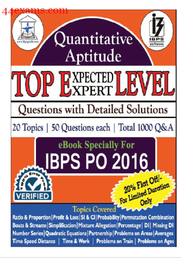 Quantitative Aptitude Top 1000 Questions and Answers : For